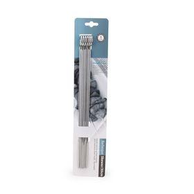 Inspire - 6 Piece Stainless Steel Braai Skewers - 30 cm