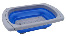LeisureQuip - Small Extendible Foldaway Colander - Blue