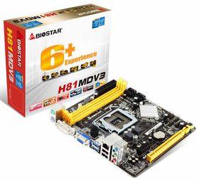 Biostar H81MDV3 Motherboard Socket 1150