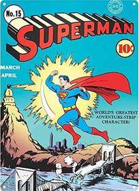 Superman Zap Large Steel Sign