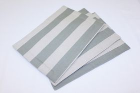 Balducci - Earthstone Placemats Set Of 6 - V Stripe and Duck Egg