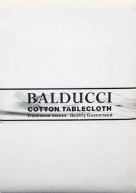 Balducci Cotton White Tablecloth - 6 Seater