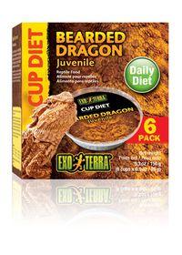 Exo-Terra Bearded Dragon 6 x 25g Diet Cups - Juvenile