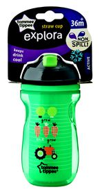 Tommee Tippee - 260ml Explora Active Straw Cup - Tractor