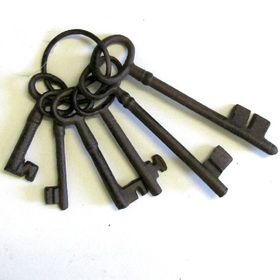 Pamper Hamper - Cast Iron Key Set - 6 Keys