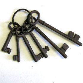 Pamper Hamper Cast Iron Key Set - 6 keys
