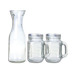 Consol - Beverage Carafe and 2 Mason Mug Set