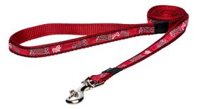 Rogz Fancy Dress Red Rogz Bone Fixed Dog Lead - Medium