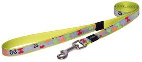 Rogz Lapz Trendy Multi Bones Fixed Long Dog Lead - Medium