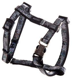 Rogz Lapz Trendy Black Bones Dog H-Harness - Extra Small