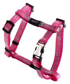 Rogz Lapz Trendy Pink Bones Dog H-Harness - Extra Small