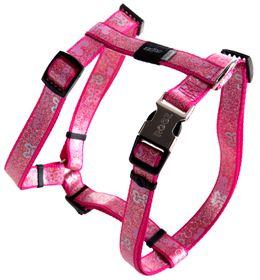 Rogz Lapz Trendy Pink Bones Dog H-Harness - Medium