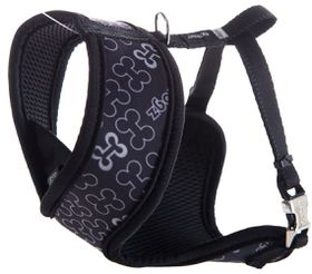 Rogz Lapz Trendy Black Bones Wrapz Harness - Small