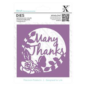 Xcut Dies - Many Thanks Topper