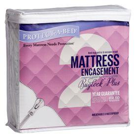 Protect-A-Bed - Buglockplus Mattress Encasement 28cm Depth - (Size: Three Quarter)