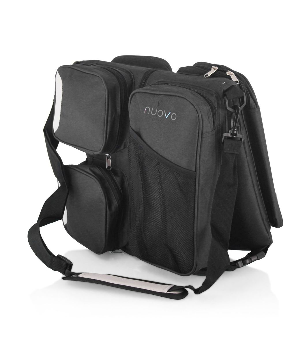 nuovo baby 3 in 1 carry and nappy bag black buy online in south africa. Black Bedroom Furniture Sets. Home Design Ideas