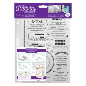 Docrafts Creativity Essentials A5 Clear Stamp Set - Verses