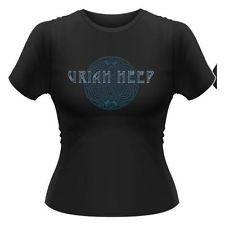 Uriah Heep Celebration Girl T-Shirt Black (Size: S)
