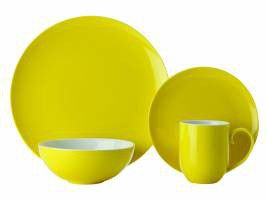 Maxwell and Williams - Colour Basics Coupe Dinner Set - 16 Piece - Yellow