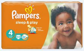 Pampers - Sleep and Play Nappies Value Pack - Size 4 (50 Per Pack)