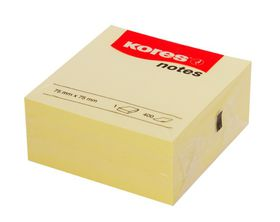 Kores Notes CUBO 75x75mm 400 Sheets - Yellow