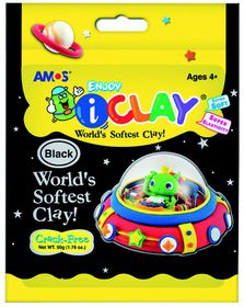 Amos iClay 50g Packet - Black