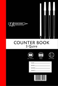 Freedom Stationery 3-Quire 288 Page A4 F&M Counter Book