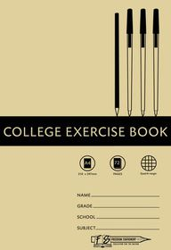 Freedom Stationery 72 Page A4 Q&M College Exercise Book