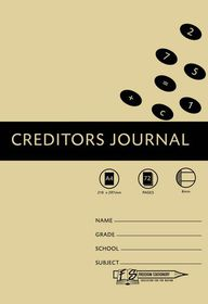Freedom Stationery 72 Page A4 8MC Creditors Journal
