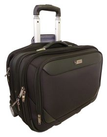 "Elegant 17"" Over Night Laptop Trolley Briefcase - Black"