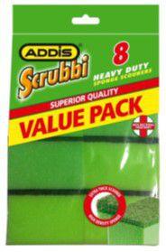 Addis - Scrubby Plus Sponge Scourer - 8 Piece