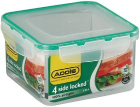 Addis - 4 Side Locked Square Saver With Tints - 1.25 Litre