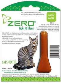 Efekto Zero Ticks & Fleas For Cats - 0.5ml
