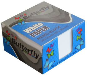 Butterfly Memo Block (95 x 95mm) 500 Sheets - White Paper