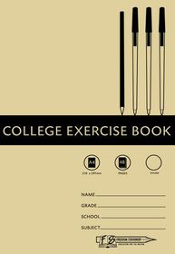 Freedom Stationery 48 Page A4 Unruled College Exercise Book (25 Pack)