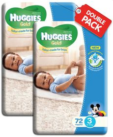 Huggies - Gold Boy (Size: 3) - 72 Per Pack