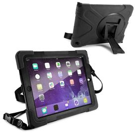 Tuff-Luv Rugged Armour Case with Shoulder Strap and stand for the Apple iPad 2/3 and 4 - Black