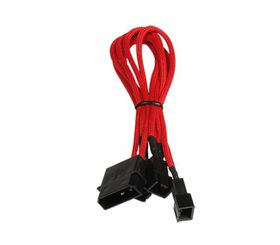 BitFenix Power Splitter Cable - 20cm Length - Red / Black / Red