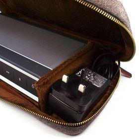 Tuff-Luv Herringbone Tweed NFC Travel Case - Brown