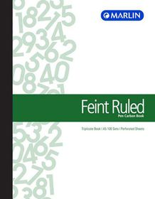Marlin A5 Triplicate Pen Carbon Book - Feint Ruled