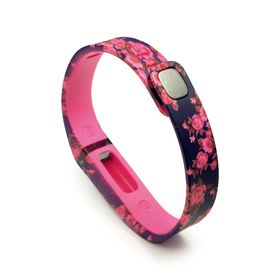 Tuff-Luv Adjustable Strap / Wristband and Clasp for Fitbit Flex - Secret Garden Pink