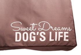Dog's Life - Sweet Dreams Cushion In Grey - Large