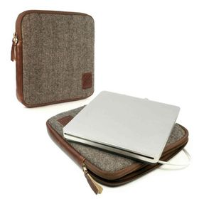 Tuff-Luv Herringbone Tweed Travel Case for Apple USB SuperDrive (Apple USB DVDROM Drive) - Brown