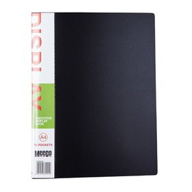 Meeco Executive A4 Display Book 10 Pockets - Black