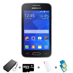 Samsung Trend Neo 4GB 3G Black - Bundle 3 incl. R1000 airtime + 1.2GB Starter Pack + Accessories
