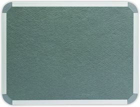 Parrot Info Board Aluminium Frame - Grey Felt (900 x 600mm)