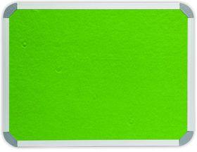 Parrot Info Board Aluminium Frame - Lime Green Felt (1200 x 900mm)