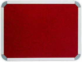 Parrot Info Board Aluminium Frame - Burgundy Felt (1200 x 900mm)