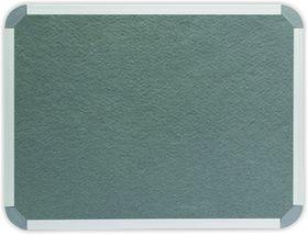 Parrot Info Board Aluminium Frame - Grey Felt (1000 x 1000mm)