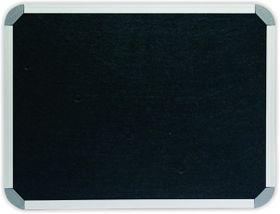 Parrot Info Board Aluminium Frame - Black Felt (1200 x 1000mm)